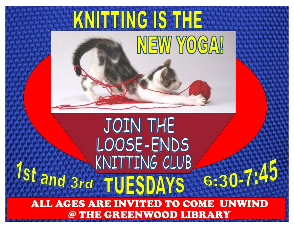 Knitting Club Book : 'loose ends knitting club greenwood library