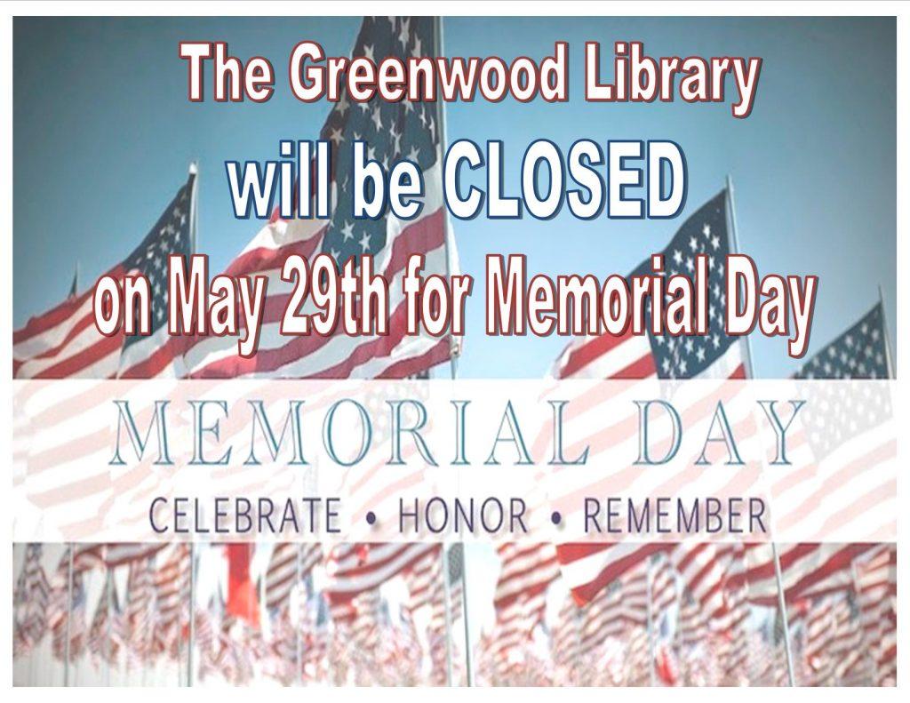 Memorial Day 2017 closed
