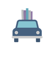 Car with books on top